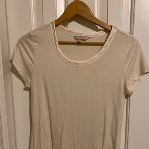 Banana Republic layering tee with satin neckline